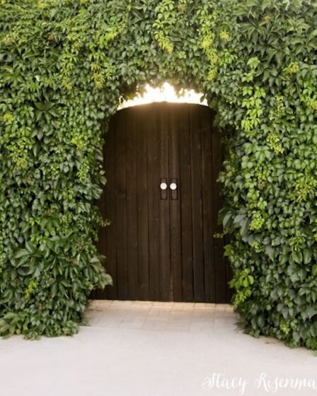 Build your own Arched Gate using free plans.