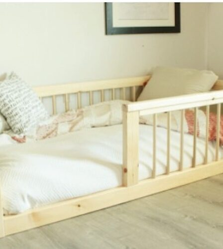 Free plans to build a Toddler Floor Bed.